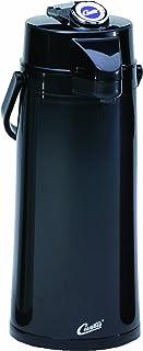 Wilbur Curtis Thermal Dispenser Air Pot, 2.2L Black Body Glass Liner Lever Pump –..