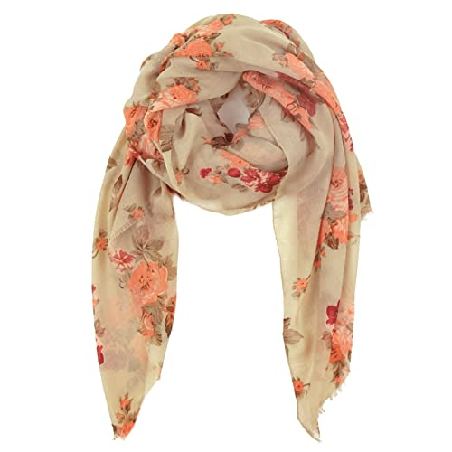 Scarf for Women Lightweight Floral Flower Fashion for Spring Scarves Shawl Wrap