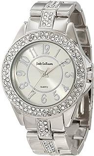 Womens Silver Tone Rhinestone Embellished Bracelet Watch Jade LeBaum - JB202749G