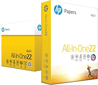 HP Printer Paper, All In One22, 8.5 x 11 Paper, Letter Size, 22lb Paper, 96 Bright, 2, 500 Sheets/ 5 Ream Carton (207000C) Acid Free Paper