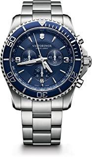 Best victorinox swiss army large maverick blue stainless steel watch Reviews