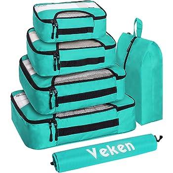 j Summer Beach 3 Set Packing Cubes,2 Various Sizes Travel Luggage Packing Organizers