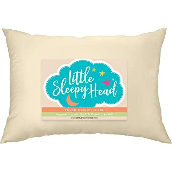 Little Sleepy Head Youth Pillow, 16x22, Organic Cotton Shell, Down-Like Fill