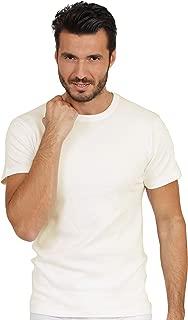 EGI Luxury Wool Silk Men's Short Sleeve T-Shirt. Proudly Made in Italy.