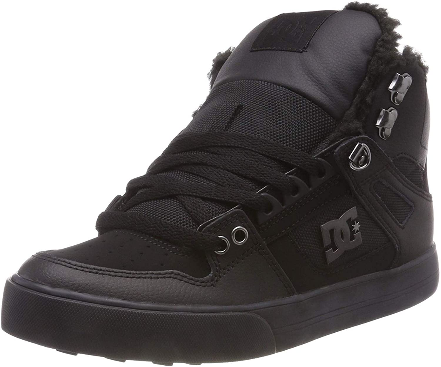 DC Pure High Top WC WNT Black Mens Leather Hi Trainers