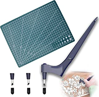 Couteau pour Loisirs Créatifs Massicots à Lame Rotative Couteau D'artisanat en Acier Inoxydable Scalpel de Découpe Papier ...