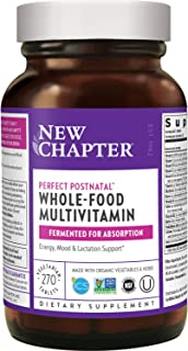 New Chapter Postnatal Vitamins, Lactation Supplement with Fermented Probiotics + Wholefoods + Vitamin D3 + B Vitamins + Or...