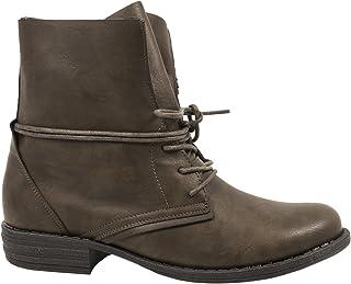 1ca1e21d Elara Mujer Botines | Biker Boots | Aspecto de Piel Trendy | chunkyr Ayan