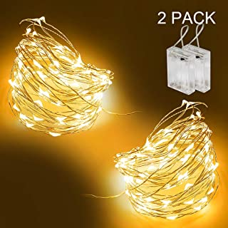 Tasodin led Fairy Lights Waterproof 16.4ft String Lights Battery Operated for Wedding, Home, Garden, Party, Christmas Decoration, Warm White