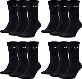 NIKE, SX4508 - 12 pares de calcetines de tenis para hombre, color blanco, negro y gris