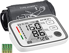 ATMOKO Blood Pressure Monitor, Blood Pressure Machine for Upper Arm with 2 Users, 180 Readings Memory, Accurate Digital BP Meter with Large Display, 22-42cm Adjustable Cuff, FDA & CE Certified