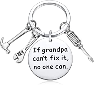 , If Grandpa Cant Fix It No One Can Keychain Screwdriver Wrench Hammer Key Chain Ring Charms Men Grandpa