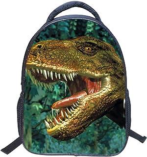 Baby Toddler Kids 3D Animals Cool Dinosaur Print Canvas Backpack Schoolbag Shoulder Bag for Kindergarten