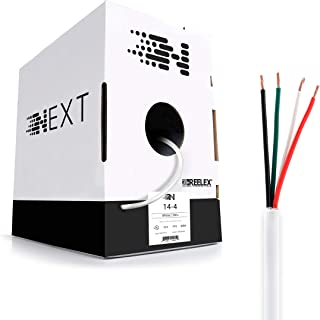 Next 14/4 Speaker Wire - 14 AWG/Gauge 4 Conductor - UL Listed in Wall (CL2/CL3) and Outdoor/In Ground (Direct Burial) Rated - Oxygen-Free Copper (OFC) - 500 Foot Bulk Cable Pull Box - White