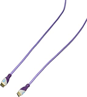 Top Dog Cables - TD-05PW- Gold Premium 5' High Speed HDMI Cable with Ethernet - Purple/White - 3D HD PS3 4 XBOX One 360 DVD TV Blu Ray