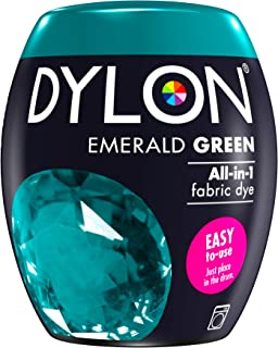Dylon Machine Dye Pod, Emerald Green, Easy-to-use Fabric Colour For Laundry,