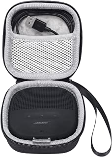Esimen Bose SoundLink Micro Case, Protective Hard Bag Box Cover Case for Bose SoundLink Micro Bluetooth Speaker (Black case)