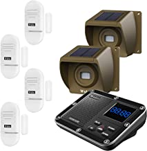 Door Window Alarm for Home, Solar Driveway Alarm Alert, Multifunctional 7 Piece Wireless Home Security System, Rechargeabl...