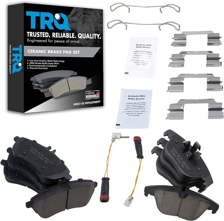 TRQ Front Rear Premium Posi Japan Maker New At the price of surprise Ceramic Kit Pad for Brake Mercedes