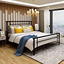 metal pole bed frame