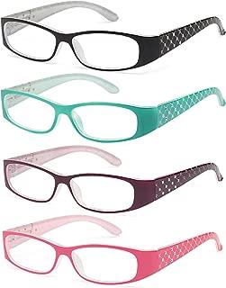 ALTEC VISION Women's Reading Glasses - 4 Pairs Shiny Ladies Fashion Readers