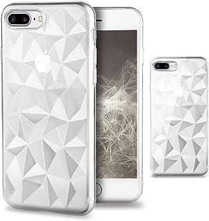 0fa37c884e4 Moozy Funda Silicona para iPhone 7 Plus / 8 Plus, Transparente - Case Cover  TPU