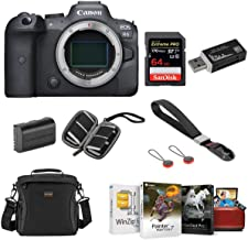 Canon EOS R6 Mirrorless Digital Camera Body Bundle with Bag, 64GB SD Card, Extra Battery, Hand Strap, Corel Mac Software Kit and Accessories