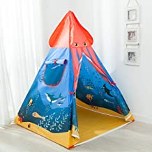 Anyshock Kids Teepee Play Tent Castle Playhouse, Foldable Pop Up Ocean Series Play Tent Baby Toys with Carrying Case for Indoor & Outdoor Playhouse, Great Gifts for 1-8 Years Old Kids Boy Girls