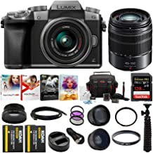 Panasonic LUMIX G7 Mirrorless Camera (Silver) with Lens and Accessory Bundle