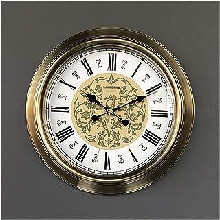 Wall Clock Decor خمر ساعة الحائط 18 بوصة ساعة صامتة غير تداعج المعادن كوارتز ساعة سهلة لقراءة المنزل/مكتب/الفصول الدراسية/...