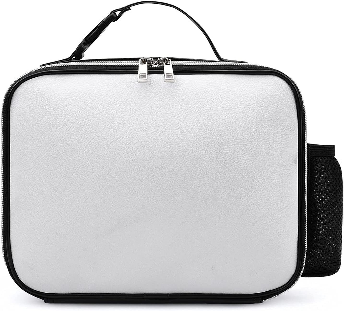 White Blank Lunch Bags For MenInsulated Thermal Lunch Tote BagLunch Box With Front Pocket For Office Work Picnic Fishing