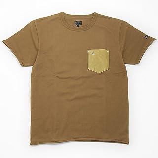 (ショット) Schott 半袖 鹿革 ポケットTシャツ ワンスター カーキ×シルバー 3163030-53