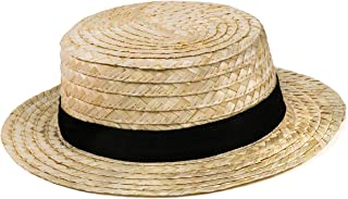 Skimmer Hat – Amish Hat, Boater, Straw Hat, Sailor, Roaring 20's - Costume Accessories by Tigerdoe