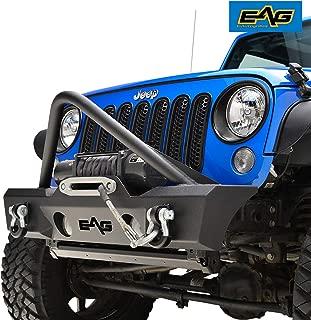 EAG Stinger Front Bumper W/Fog Light Holes Fit for 07-18 Jeep Wrangler JK