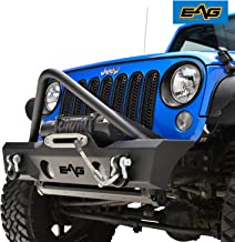 EAG Stinger Front Bumper W/Fog Light Holes Fit for 07-18 Jeep Wrangler JK