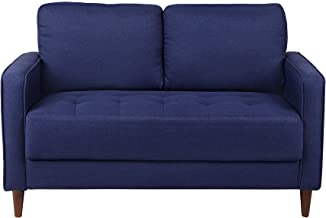 Loveseat Sofa Couch for Living Room Sofas and Couches with Pillowed Back Cushions Durable Modern Upholstered Fabric Futon ...