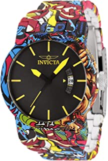 Invicta Women's DNA Quartz Watch with Stainless Steel Strap, Silver, Aqua Plating, 29 (Model: 34489)