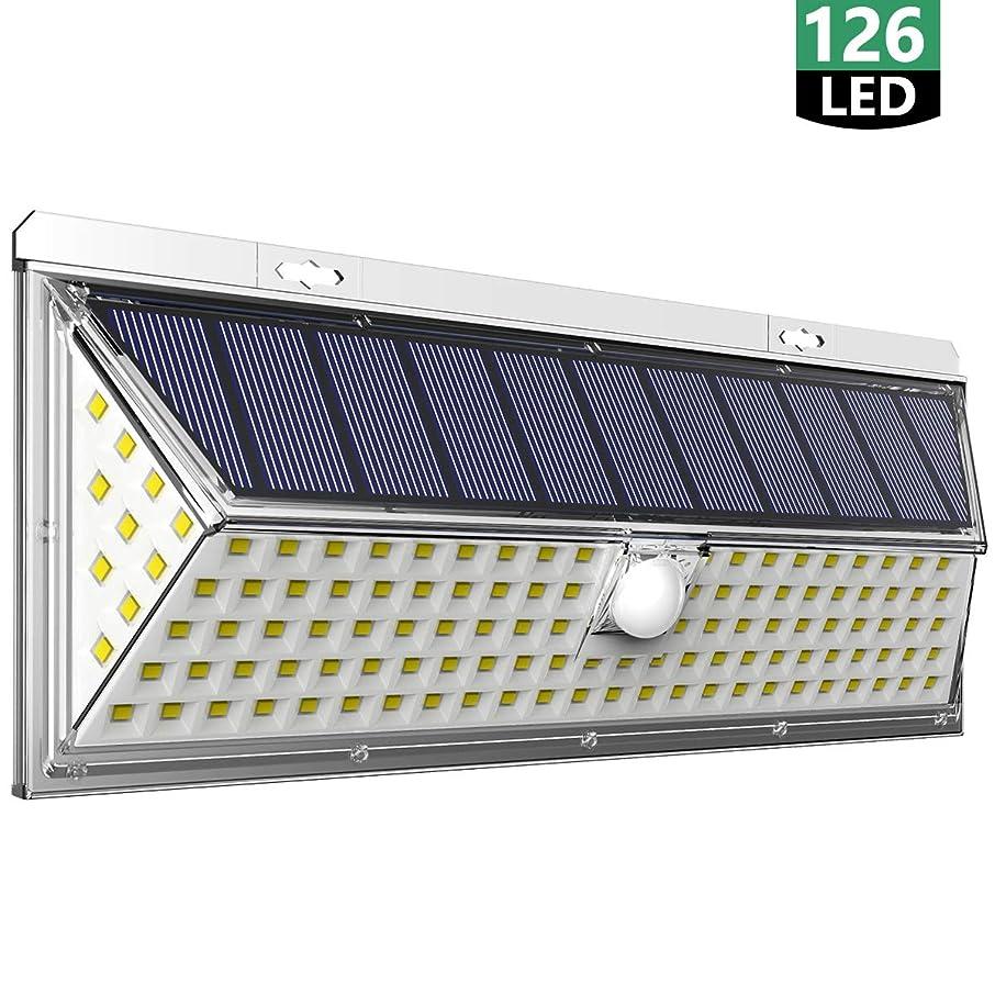 入力失われた発疹Meyoung センサーライト ソーラーライト屋外 3面発光 126LED 太陽光発電 人感センサー 転換率50%UP 防犯ライト 270°広角照明 IP65防水 人感センサーライト 屋外 玄関 駐車場 庭 ガーデンに大活躍