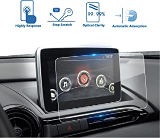 LFOTPP 2016-2019 Mazda CX-3 MX-5 7-Inch MZD Connect Car Navigation Screen Protector, Clear Tempered Glass Infotainment Display in-Dash Center Touch Screen Protector