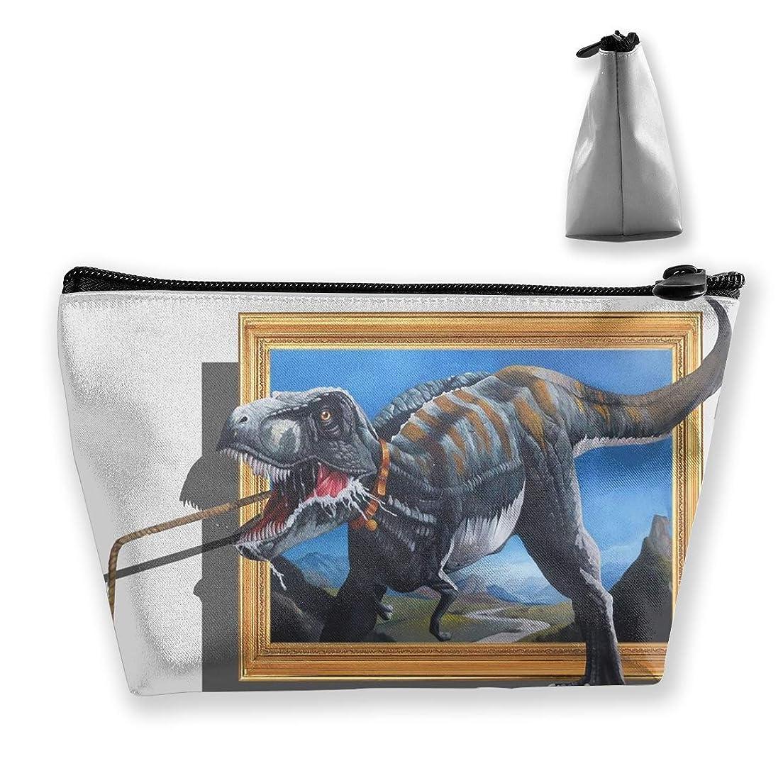 夜明けに書店しない狩猟恐竜3D ペンケース文房具バッグ大容量ペンケース化粧品袋収納袋男の子と女の子多機能浴室シャワーバッグ旅行ポータブルストレージバッグ