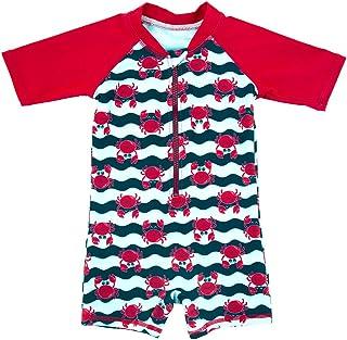 ThreeH Infant Baby Boys Rashguard Swimsuit One Piece Sun Protective Swimwear BM06