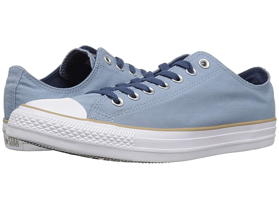 Converse Chuck Taylor All Star Collegiate Color Ox (Washed Denim/Khaki/White) Shoes