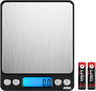 AMIR Digital Kitchen Scale 3000g 0.01oz/ 0.1g Pocket Cooking Scale Mini Food Scale Pro Electronic Jewelry Scale with Back-...