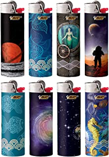 BIC Special Edition Exploration Series Lighters, Set of 8 Lighters