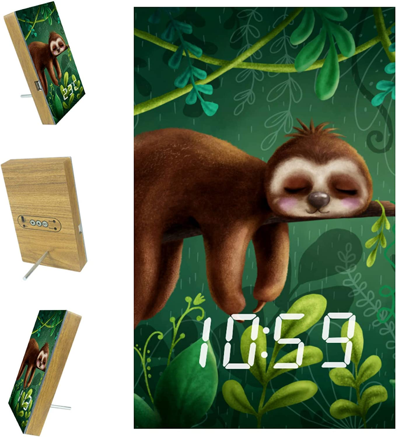 Best2buy365 LED Sloth Green Alarm Complete Free Shipping wit Clock Humidity Temperature shopping