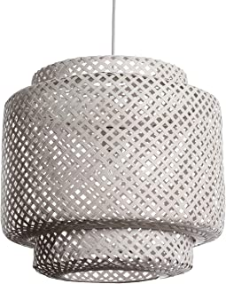LUSSIOL 250542 Luminaire, Suspension, Bambou, 60 W, White, Normal
