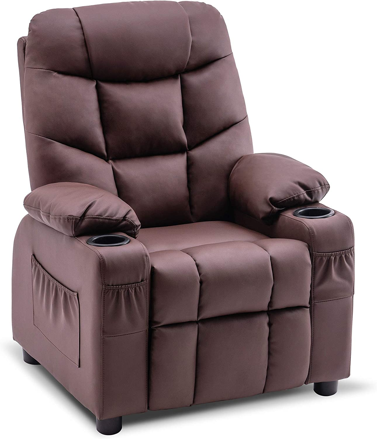 Mcombo Big Kids Recliner Chair with Philadelphia Mall Cup National products Gir and Boys for Holders