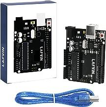 LAFVIN for Uno R3 Board ATmega328P ATMEGA16U2 + USB Cable Compatible with Arduino