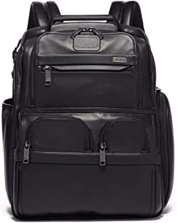 tumi compact leather backpack