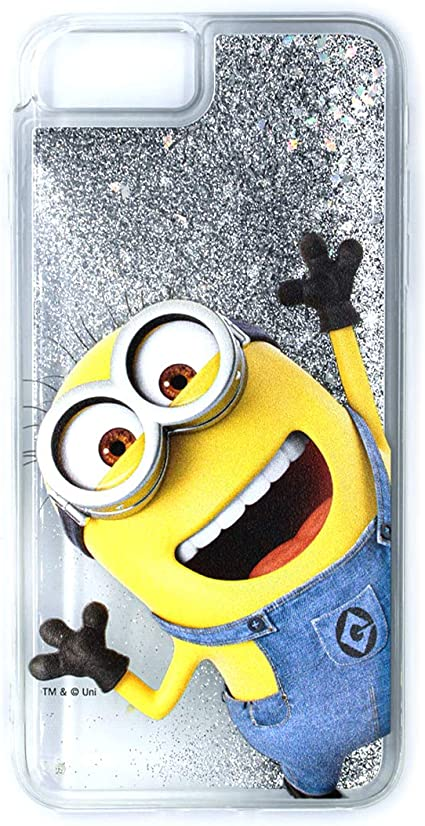 ERT DWPCMINS626 Coque pour iPhone 6 Plus/6S /7 /8 Motif Minion de Moi, Moche et méchant Transparent/argenté